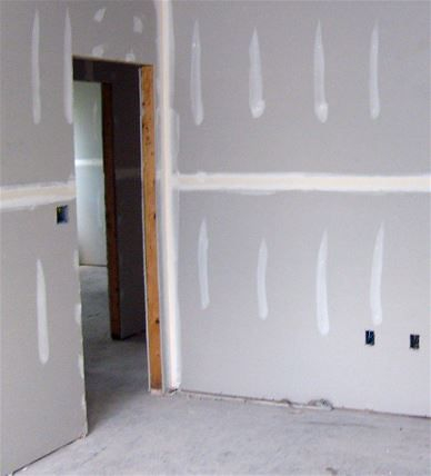 Painting new drywall as installed in Rapid City South Dakota