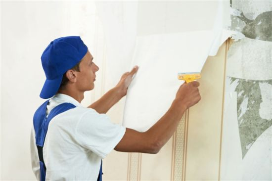 Interior Wallpaper Removing preparation for painting in Rio Rancho New Mexico