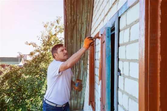 Painting and Restoring Exterior Residential House Siding in RIo Rancho New Mexico